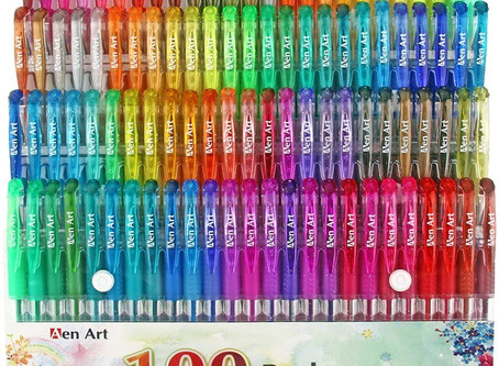 100 Color Glitter Gel Pen Set