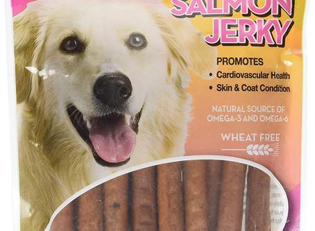 Carolina Pets Oven Baked Salmon Jerky Wheat Free Dog Treats, 6oz