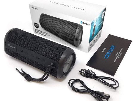 Photive HYDRA II Bluetooth Speaker Wireless Waterproof Portable Audio