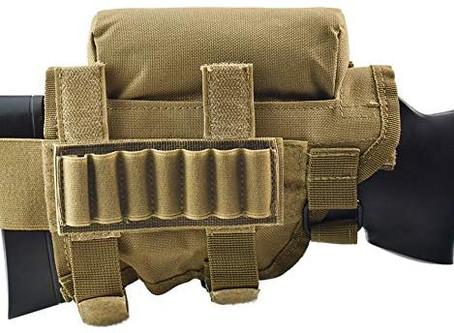 Risunpet Rifle Cheek Riser Tactical Rifle Buttstock Cheek Riser and Rest Pad with 7 Rounds Holder