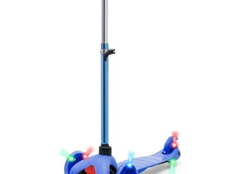Kick 3 Wheel Scooter for Kids, 4 Adjustable Height, Lean to Steer with PU LED Light Up Wheels