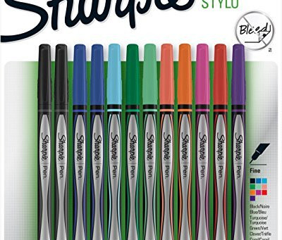 Sharpie Pen | Fine Point, Assorted Colors, Quick Drying Ink, 12 Count