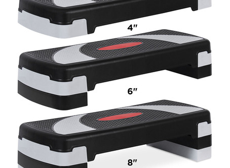BCP 30in Height Adjustable-Aerobic Step Platform Exercise Accessory w/ 3 Levels