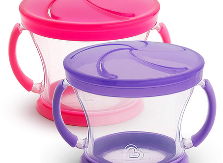 Munchkin Snack Catcher, 2 Pack, Pink/Purple or Blue/Green