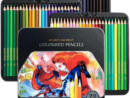 VicTsing 72 Colored Pencils, Premier Coloring Set with 3.3mm Hard Core (Harder Than Normal 2.8mm)