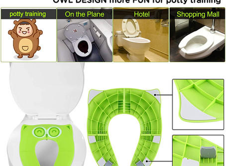 Upgrade Folding Non Slip Silicone Pads Travel Portable Reusable Toilet Potty Training Seat Cover