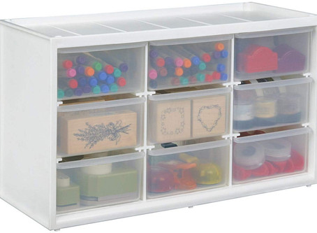 ArtBin Store-In-Drawer Cabinet; 9 Art and Craft Supply Storage Drawers