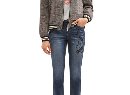 EV1 from Ellen DeGeneres Wool Plaid Love Flag Bomber Jacket Women's