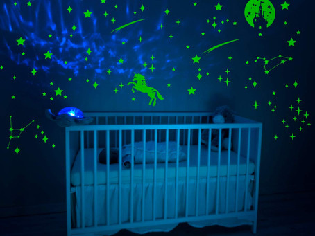 IMIKEYA 289 PCS Glow in Dark Stars and Moon Castle Unicorn Glowing Stars for Ceiling and Wall Decals
