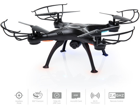 Upgraded 6-Axis Headless RC Quadcopter FPV RC Drone W/ WIFI HD Camera For Real Time Video