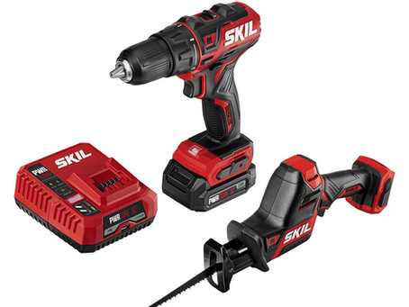 SKIL 2-Tool Combo Kit: Cordless Drill Driver and Compact Brushless Reciprocating Saw