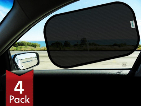 kinder Fluff Car Sun Shade (4px) -80 GSM with 15s Film (Highest Possible) for Full UV Protection