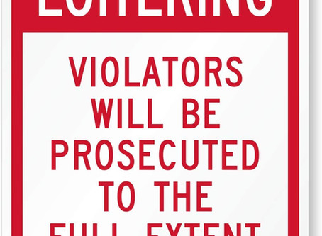 "SmartSign ""No Loitering - Violators Will Be Prosecuted"" Sign 