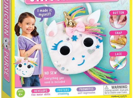 Creativity for Kids Unicorn Purse - Create A N Sew Fabric Unicorn Bag