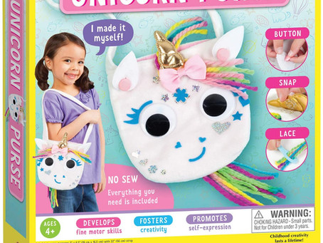 Creativity for Kids Unicorn Purse - Create A N Sew Fabric Unicorn Bag