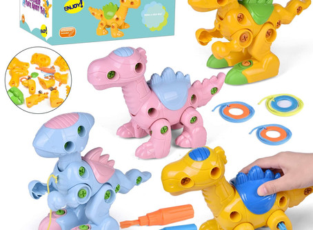 4 Pack Take Apart Toys With Tools, 9 Inch Dinosaur