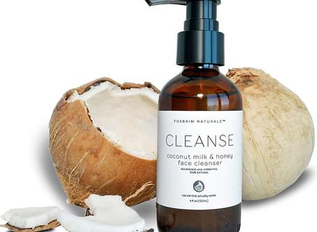 Coconut Milk & Honey Face Cleanser - Natural & Organic