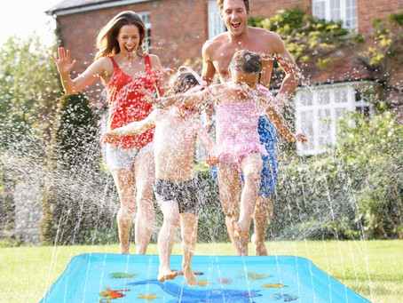 "Growsland Splash Pad - 67"" Sprinkler for Kids"