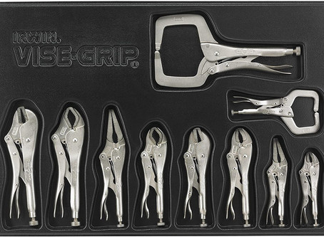 IRWIN VISE-GRIP Locking Pliers Set with Tray, 10-Piece