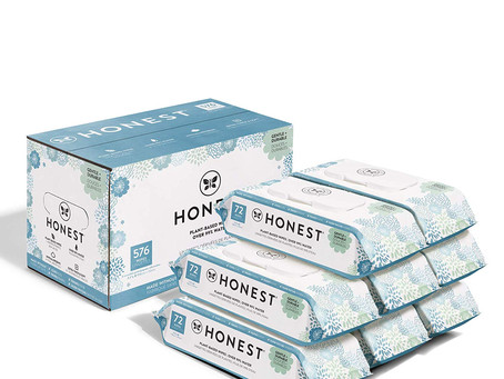 Baby Wipes - Pure and Gentle Plant-Based Alcohol, Fragrance and Paraben Free Hypoallergenic 576 Ct.