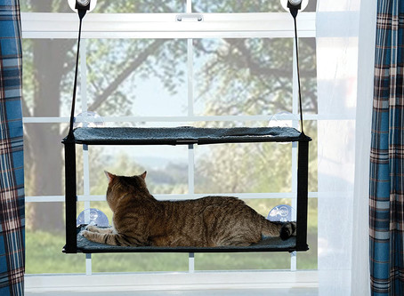 K&H Manufacturing EZ Mount Kitty Window Sill, Gray, Double Stack