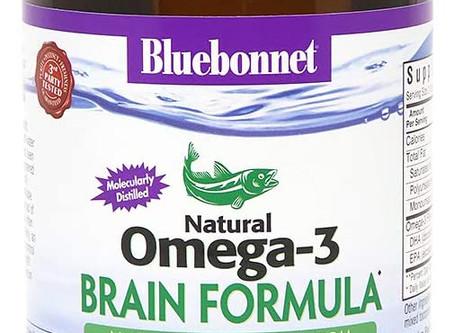 BlueBonnet Nutrition Omega-3 Brain Formula Softgels, 120 Count