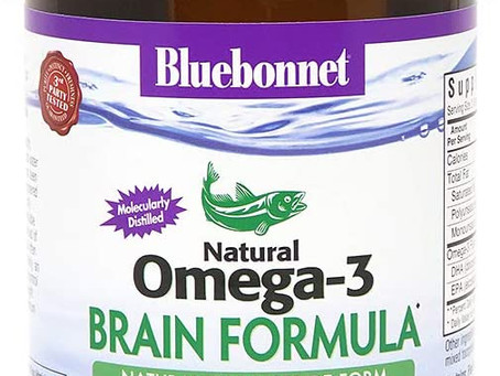 BlueBonnet Nutrition Omega-3 Brain Formula Softgels, 120 Count