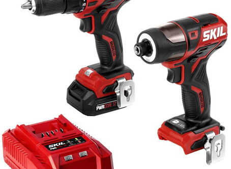"SKIL 2-Tool Kit: PWRCore 12 Brushless 12V 1/2"" Cordless Drill Driver and 1/4"" Hex Impact Driver"
