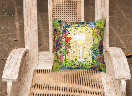 Wine Decorative Canvas Fabric Pillow
