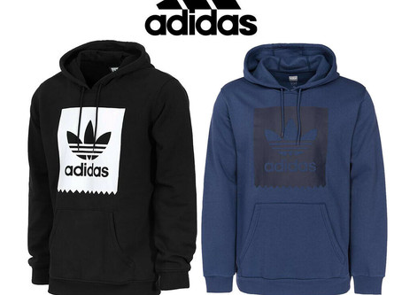 Adidas Originals Men's Blackbird Trefoil Graphic Pocket Pullover Hoodie