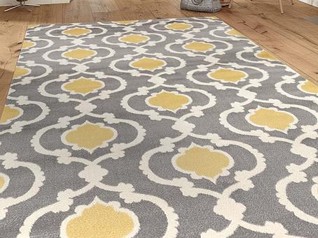 """Moroccan Trellis Contemporary Gray/Yellow 5'3"""" x 7'3"""" Indoor Area Rug"""