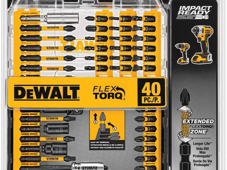 DEWALT Screwdriver Bit Set, Impact Ready, FlexTorq, 40-Piece