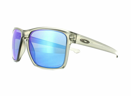 Oakley Sunglasses Sliver XL OO9341-03 Matt Grey Ink Sapphire Iridium Polarized