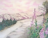 "Sarah Hathaway Fine Art, Drawing, Soft Pink Landscape, Colored Pencil on Paper, 20""x 16"", 2014, $75"