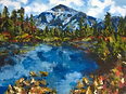 "Sarah Hathaway Fine Art, Painting, Blue Mountain, Oil on Canvas, 30""x 40"", 2016, $500"
