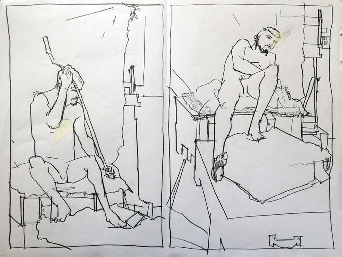 Reboli Atelier life drawing(02.26.2016)