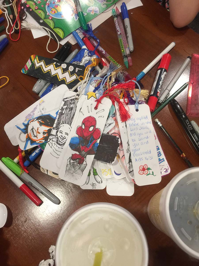 Drawing bookmarks for kids