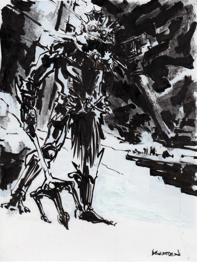 Last of the NY drawings 1: Mer-Man