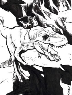 Dinosaur singing In Too Deep
