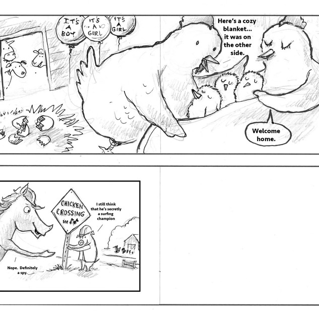 The Crossing Chicken pages 30 - 32