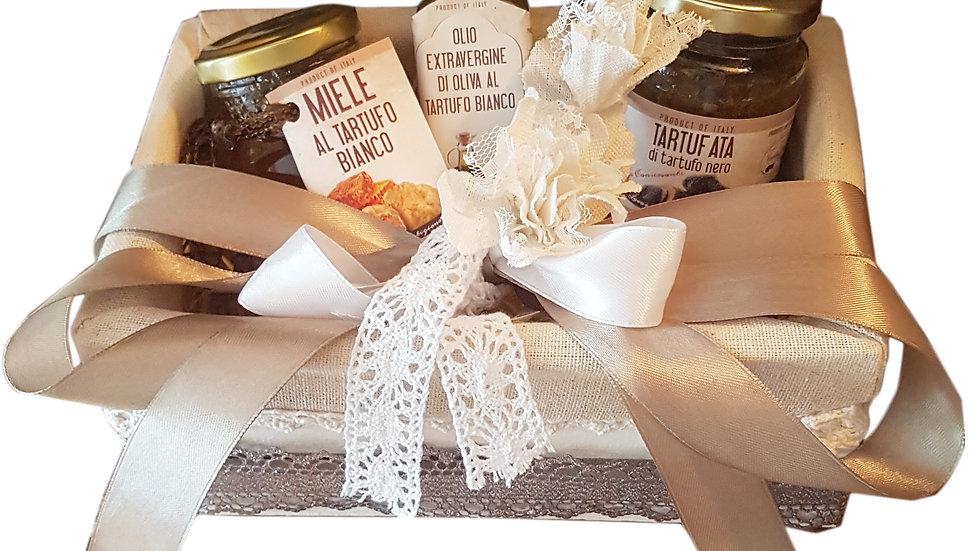 Confezione natalizia - 3 prodotti! Salsa, miele e olio al tartufo