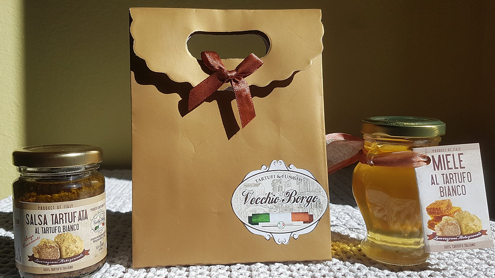Confezione regalo al tartufo- Salsa e Miele al tartufo bianco