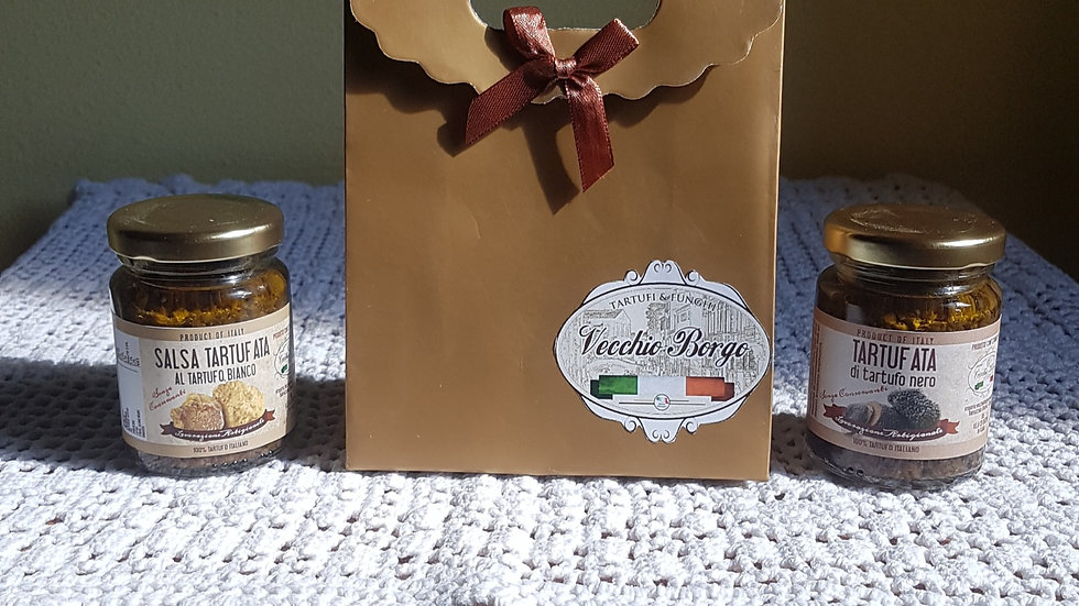 Confezione piccola 2 prodotti- Salsa al tartufo bianco e salsa al tartufo nero