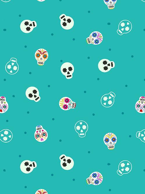 Sugar skulls turquoise