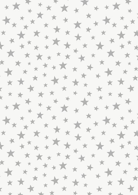 Silver star on cream