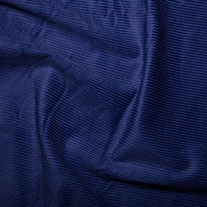 Royal blue cotton corduroy