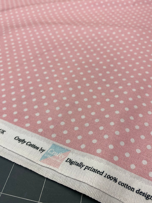 Light Pink Polka Dot Poplin
