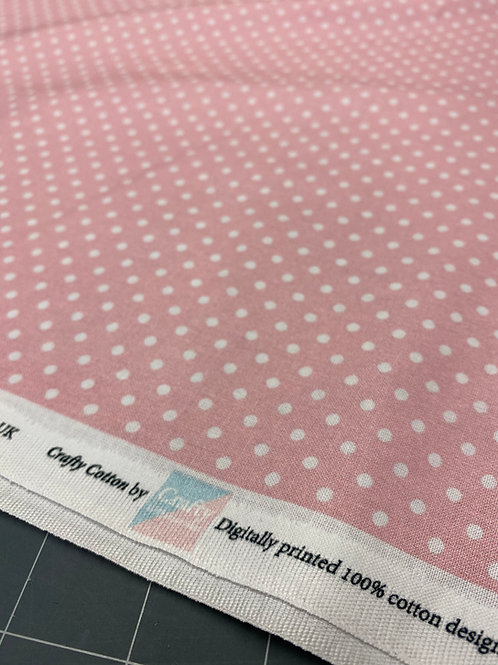Light Pink Polka Dot Poplin