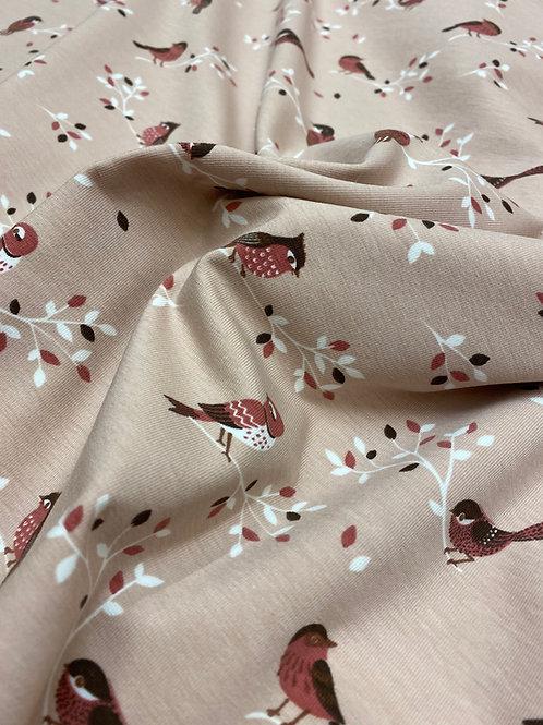 Bird & branch dusky pink