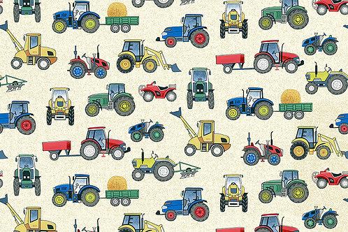 Tractors on Cream